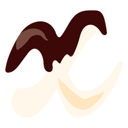 X x letter chocolate flat