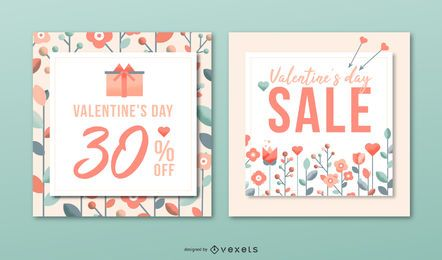 Valenitne's day sale banner set