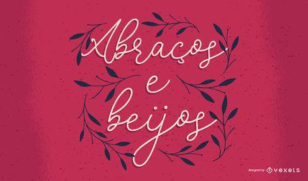 Valentinstag portugiesische Schrift