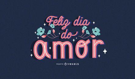 Portugiesische Beschriftung des Valentinstags