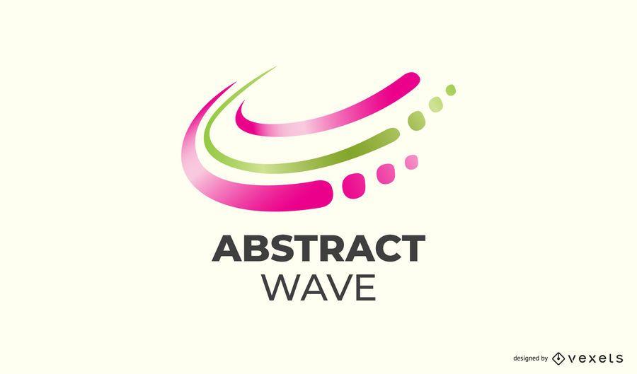 Design de logotipo de onda abstrata