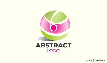 Diseño de logotipo de bola abstracta