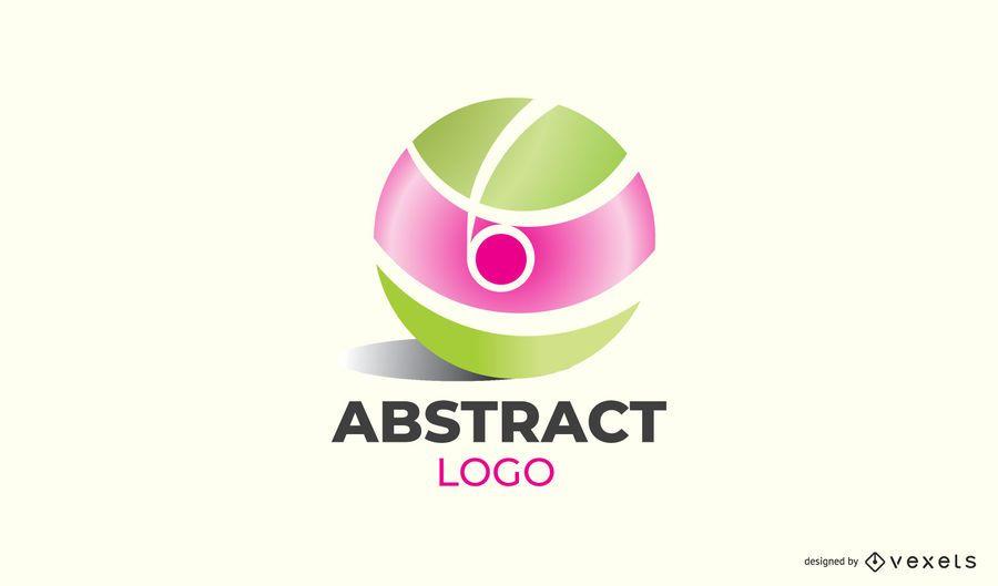 Diseño abstracto del logotipo de la bola