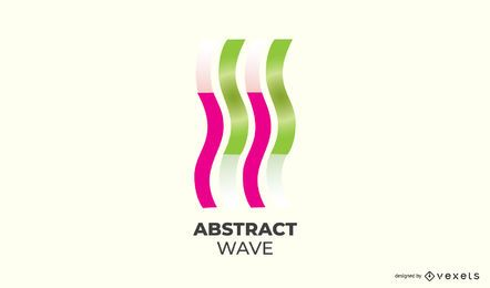 Abstrakte aufwärts Welle Logo Design
