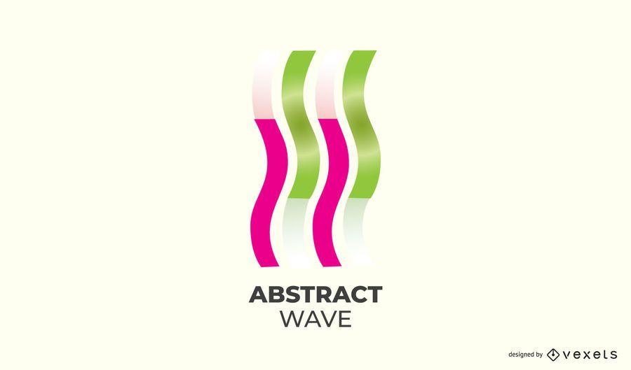 Diseño de logotipo abstracto onda ascendente
