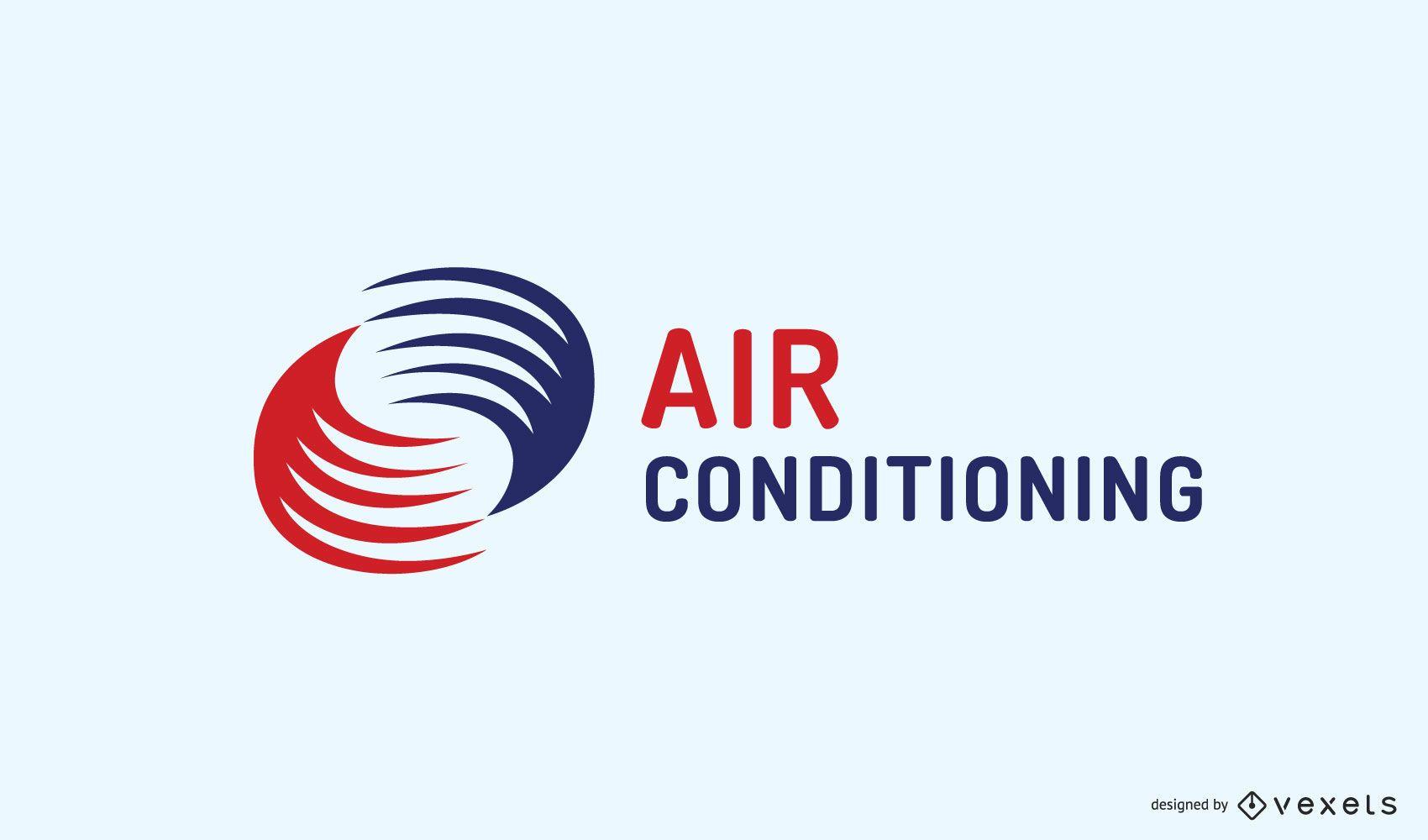 Design de logotipo empresarial de ar condicionado