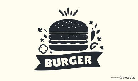 Burger Stamp Logo Design