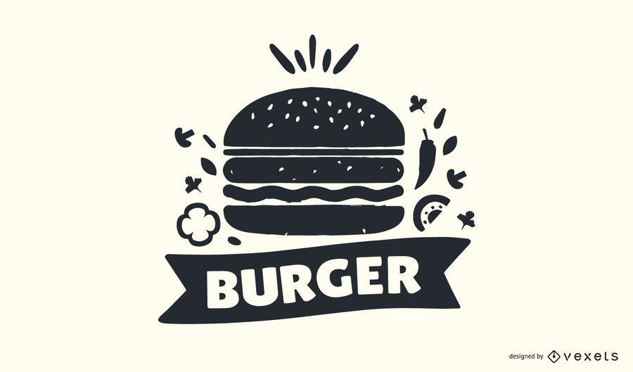 Diseño de logotipo Burger Stamp
