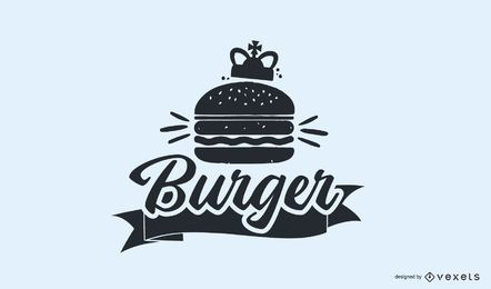 Design de logotipo vintage Burger