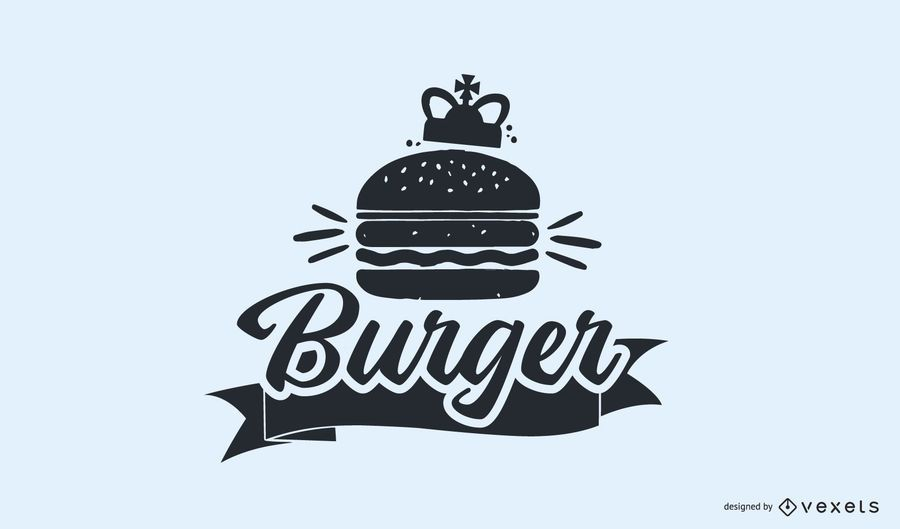 Diseño de logotipo vintage de hamburguesa