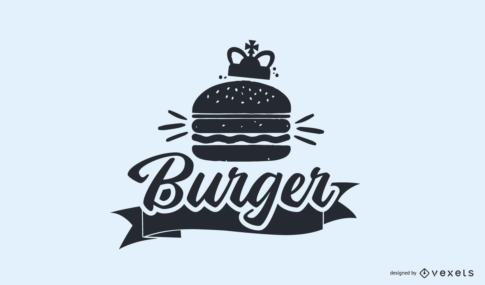 Diseño de Logo Vintage Burger