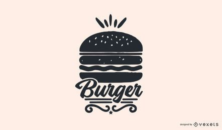 Design de logotipo de Burger Food