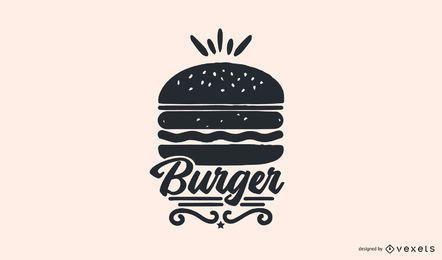 Design de logotipo de comida de hambúrguer