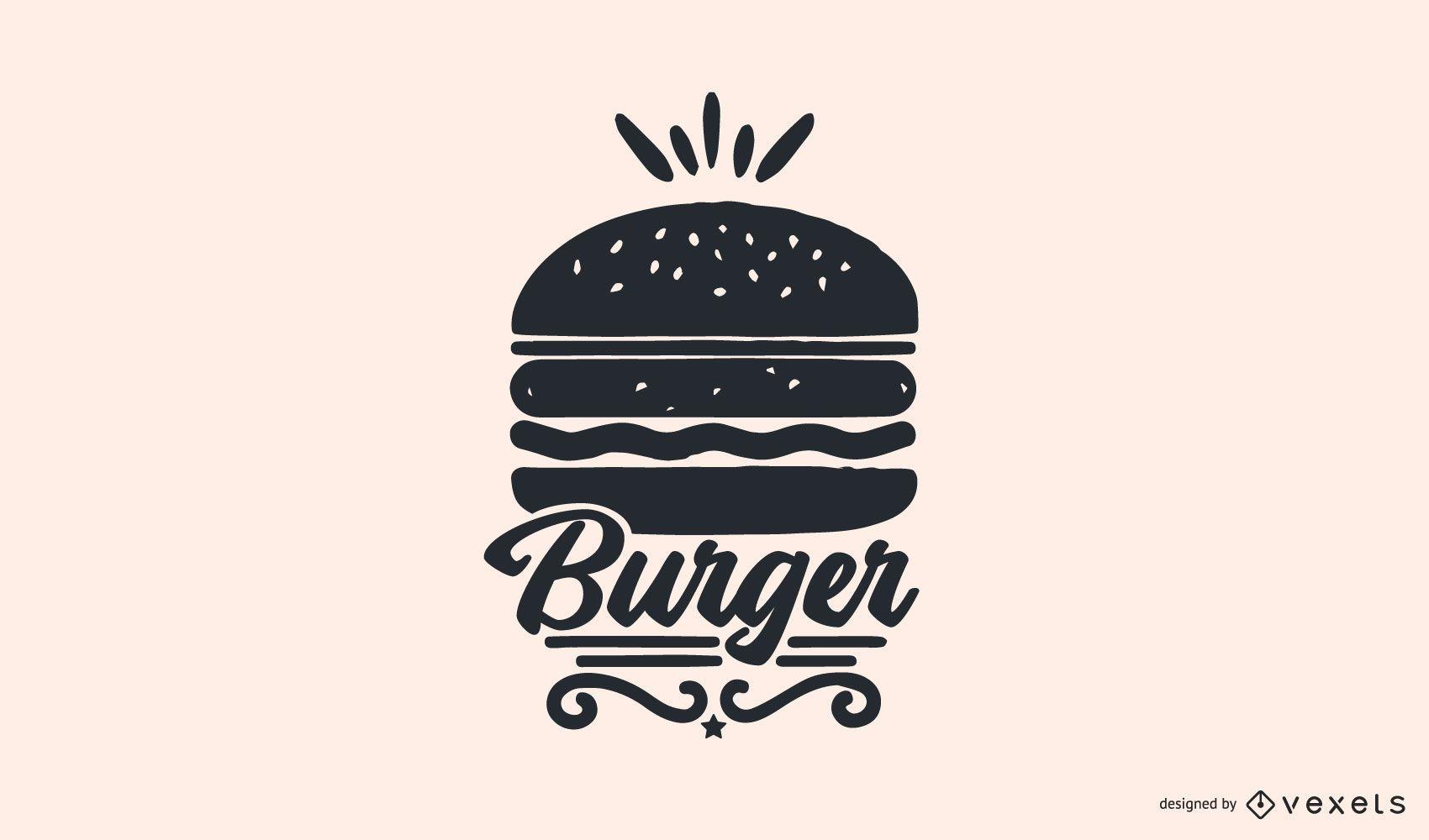 Design de logotipo de Burger Food