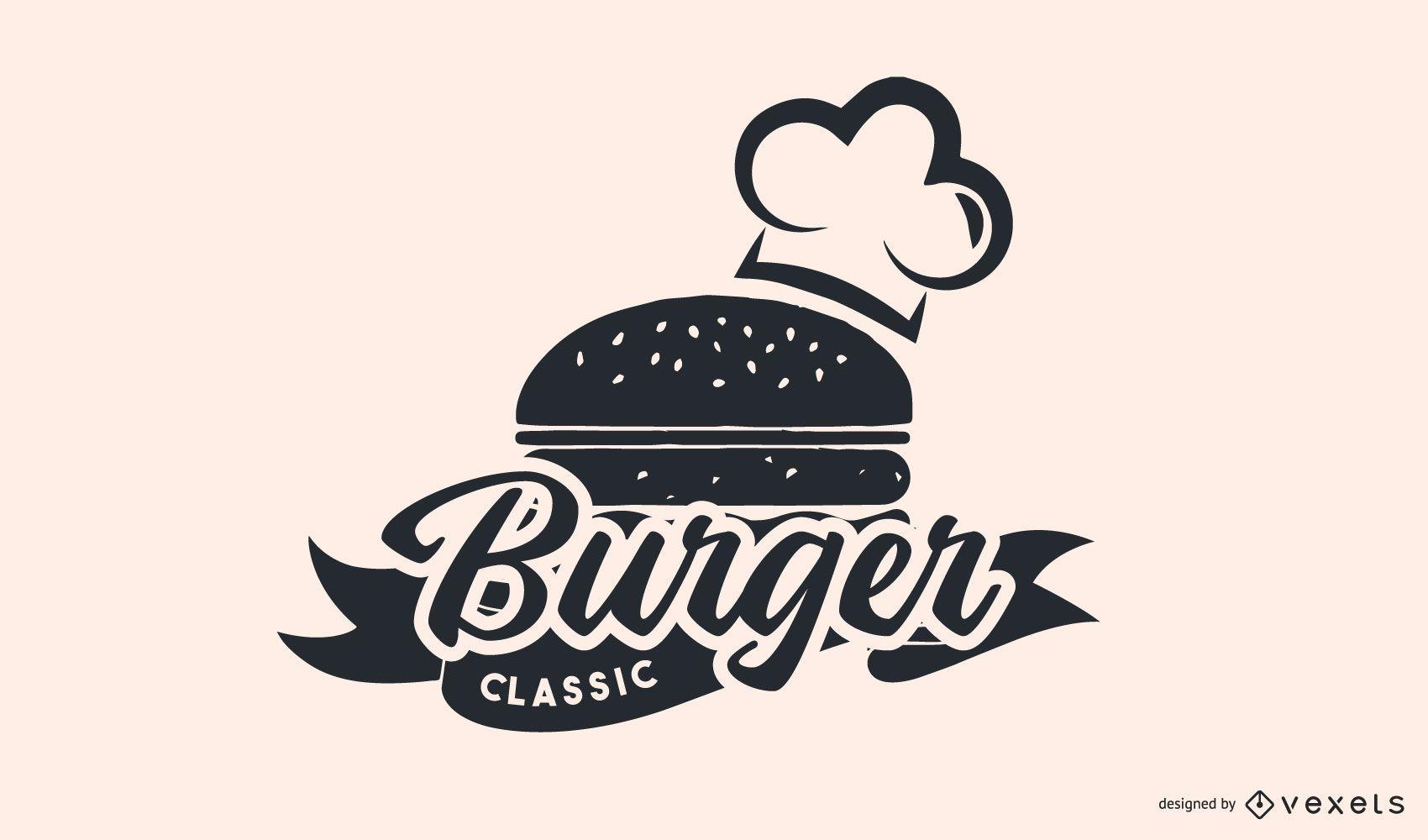 Diseño de logotipo de restaurante de hamburguesas