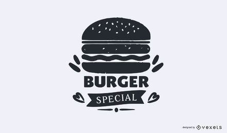 Burger spezielle Logo-Vorlage