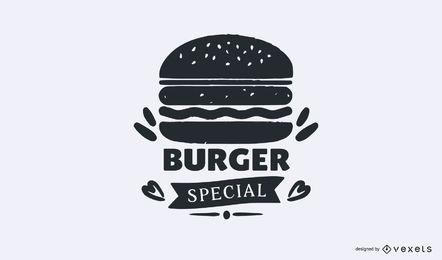 Plantilla de logotipo especial de hamburguesa