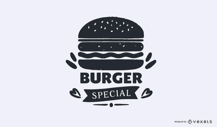 Modelo de logotipo especial de hambúrguer