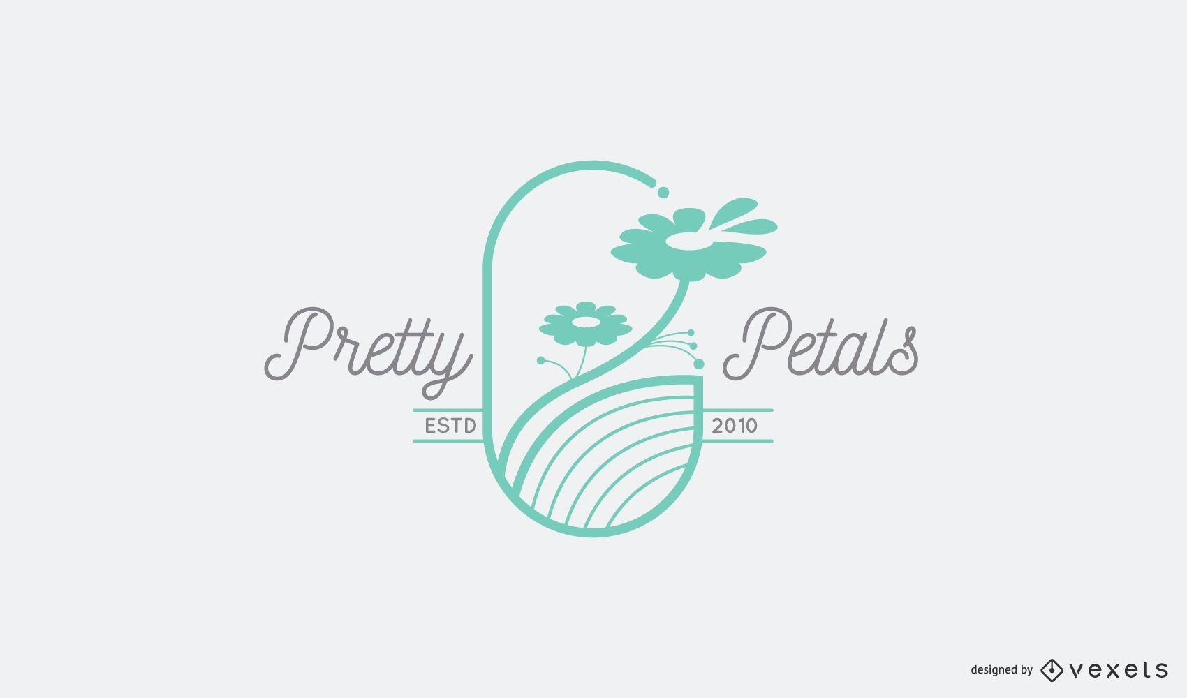 Flower petals logo template