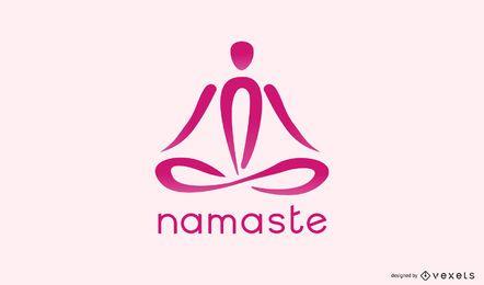 Plantilla de logotipo de yoga Namaste