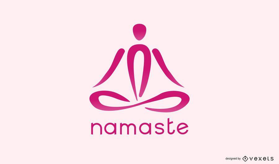 Plantilla de logotipo de namaste yoga