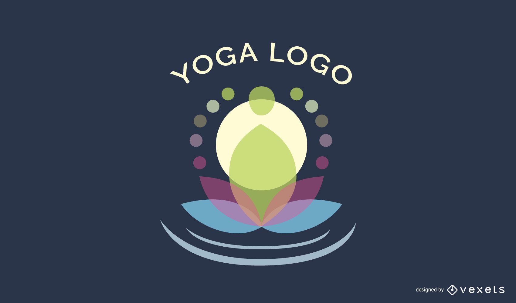 Design de logotipo do centro de ioga