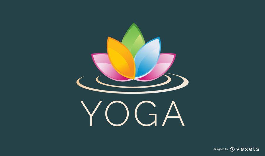 Plantilla de logotipo de flor de loto