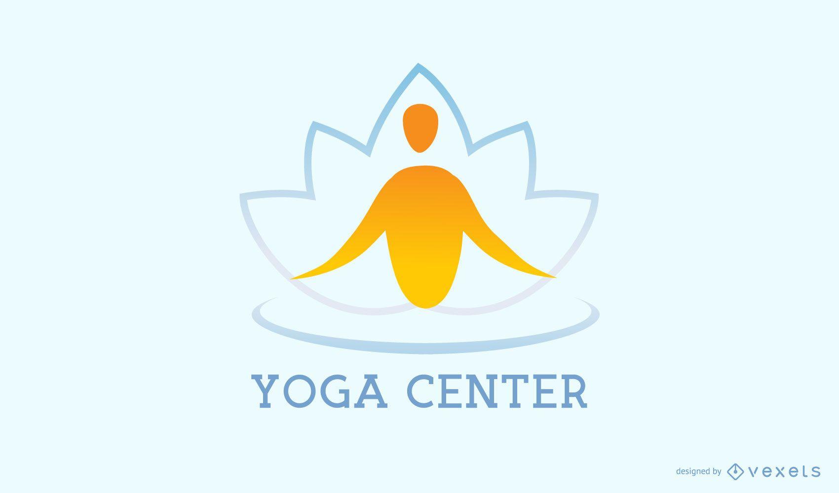 Yoga center meditation logo template