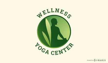 Design de logotipo de ioga de bem-estar