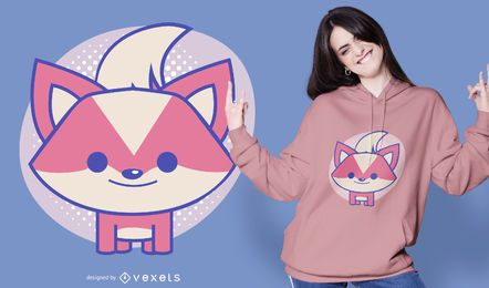 Cute fox t-shirt design