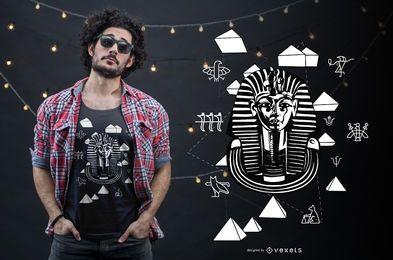 Diseño de camiseta del antiguo egipto