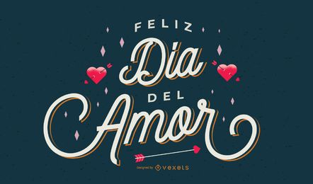 Valentine's day spanish lettering design