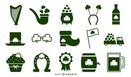St Patricks Day Schablone Elemente