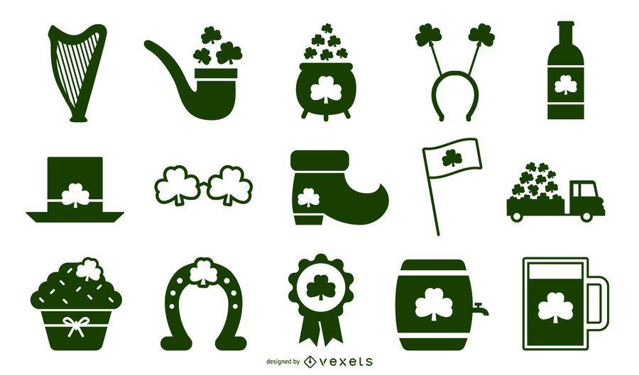 St patricks day stencil elements