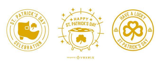 St. Patricks Tag Schlaganfall Abzeichen gesetzt
