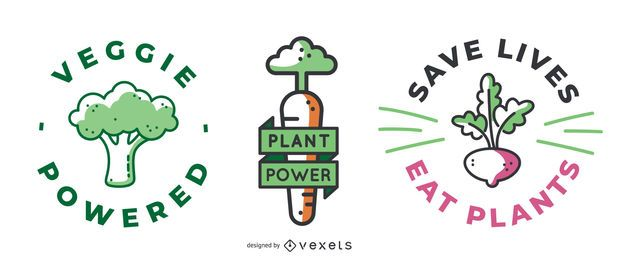 Vegan Badges Design Pack