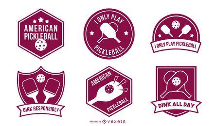 Conjunto de emblemas de Pickleball