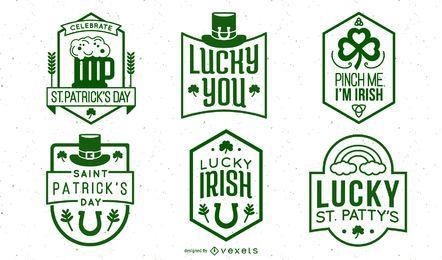 St patricks day stroke badge pack