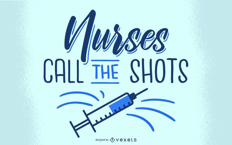 Krankenschwestern Schriftzug Design