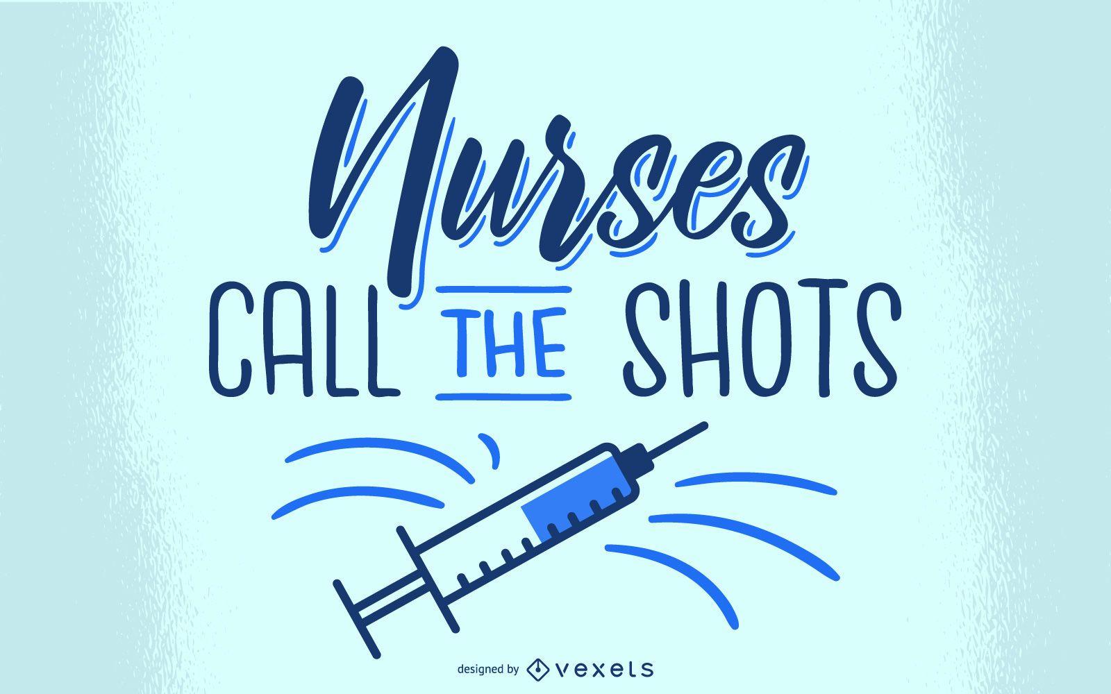 Diseño de letras de enfermeras