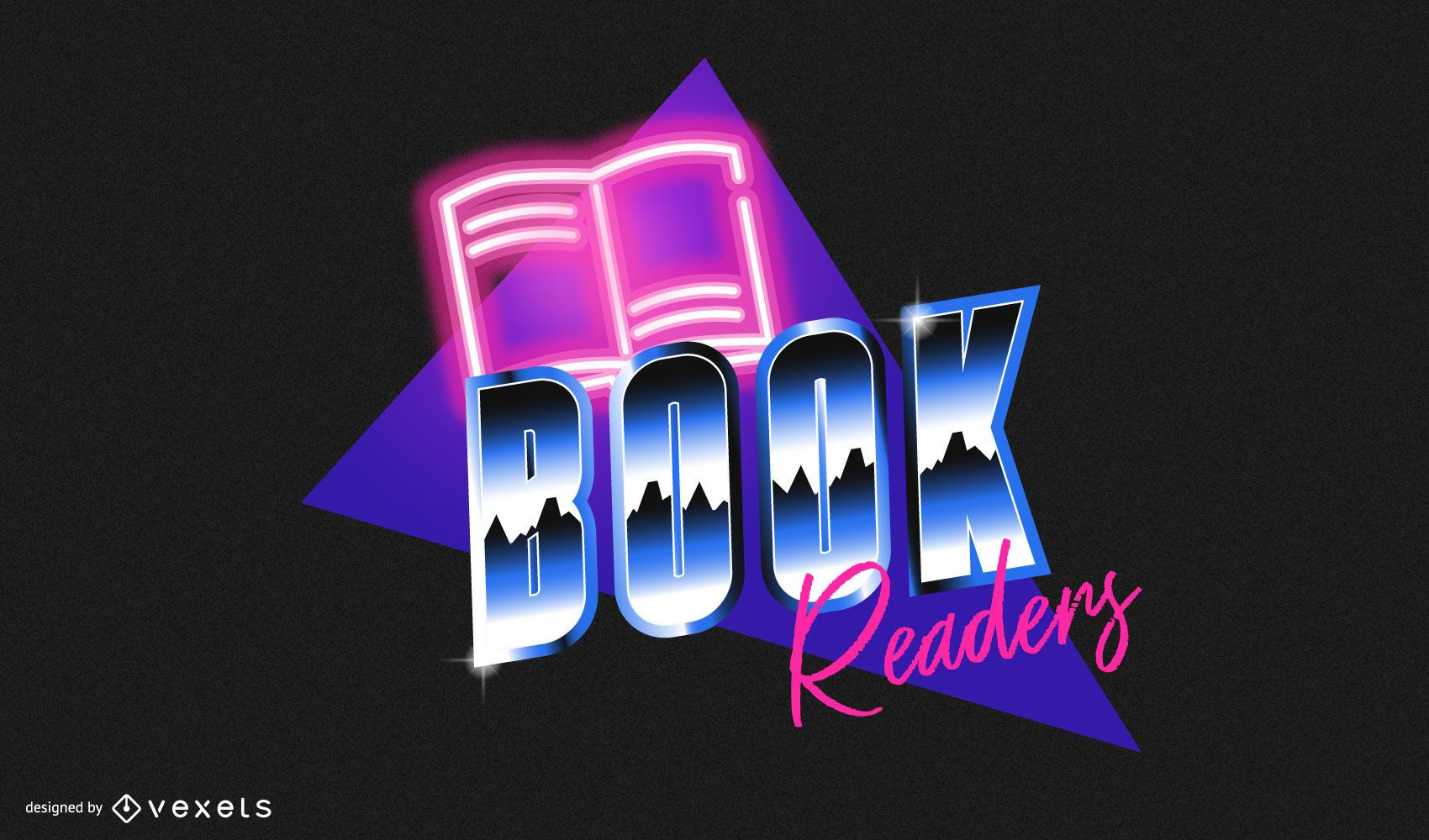 Emblema leitores de livros retrô