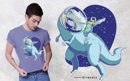 Design de t-shirt do espaço Dino