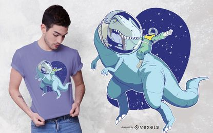 Space dino t-shirt design