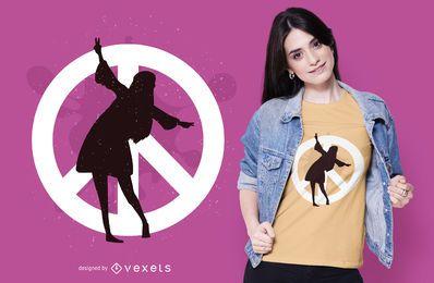 Design de t-shirt hippie da paz