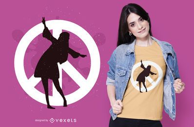Peace hippie t-shirt design