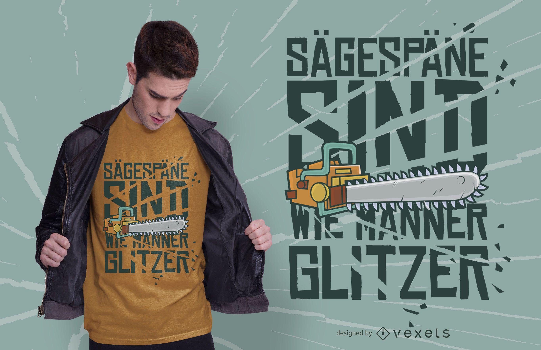 Chainsaw glitter t-shirt design