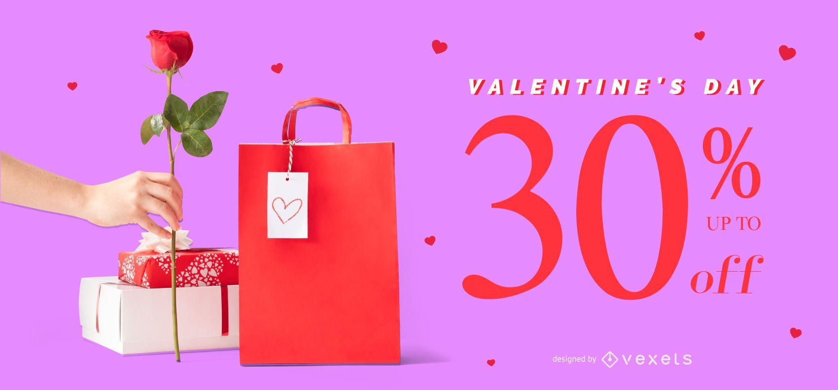 Valentine's day sale slider template