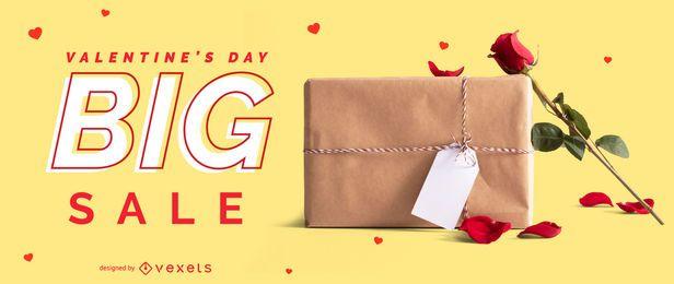 Slider da web de grande promoção do Dia dos Namorados
