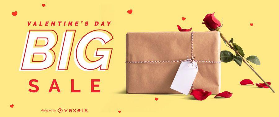 Control deslizante web de gran venta de San Valentín