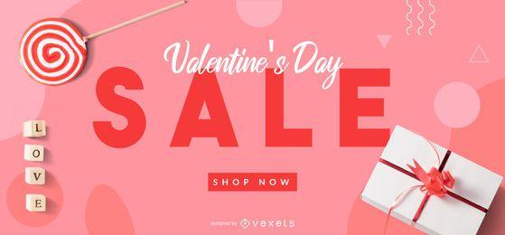 Valentinstag Verkauf Web Slider Vorlage